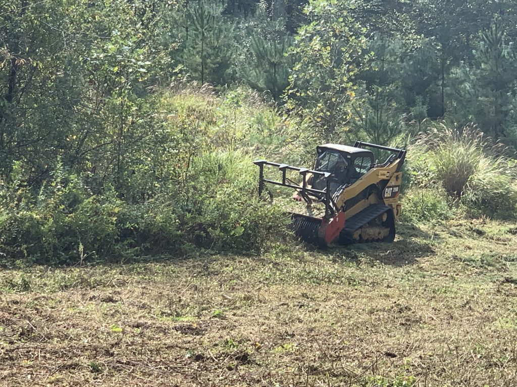 Underbrush Removal by All Pro Tree and Crane in WNC